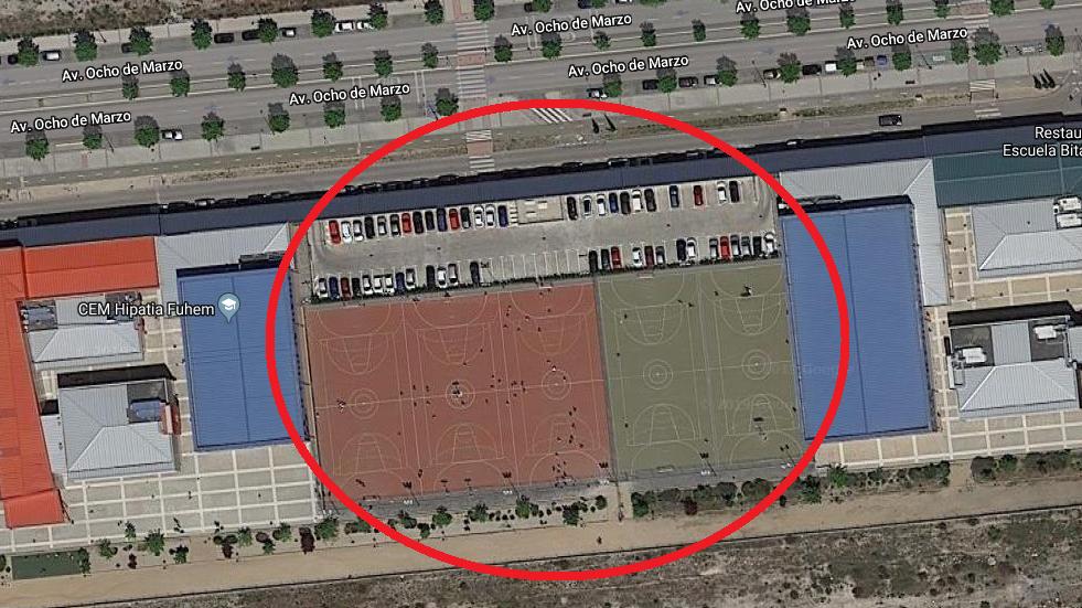 Abrir pistas deportivas del Hipatia para uso público.
