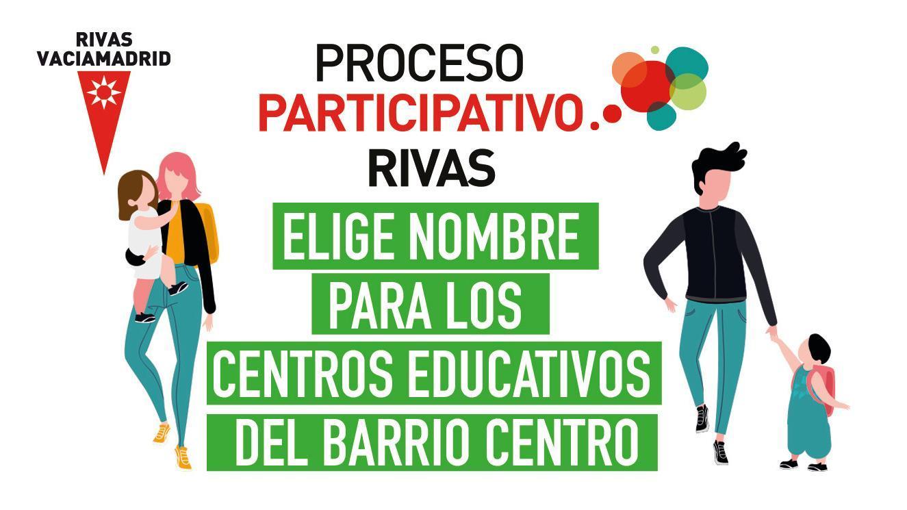 ¿Qué nombre elegirías para los nuevos centros educativos públicos del barrio Rivas Centro?