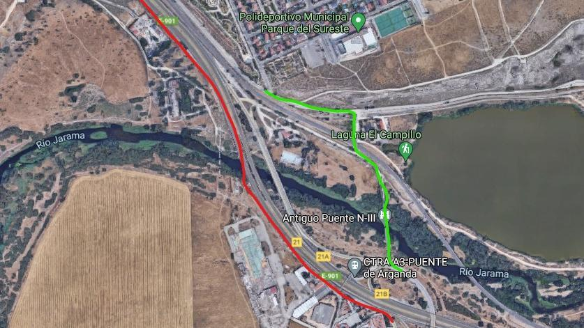 Facilitar la entrada-salida ciclista hacia M-832