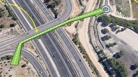 Recuperación del Parque Montarco, futuro acceso de la pasarela peatonal de la A-3