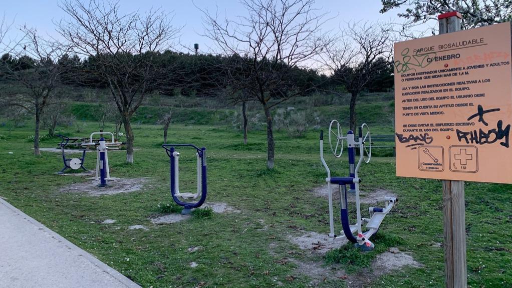 Parque Biosaludable en La Luna- Maquinas Gimnasio aire libre