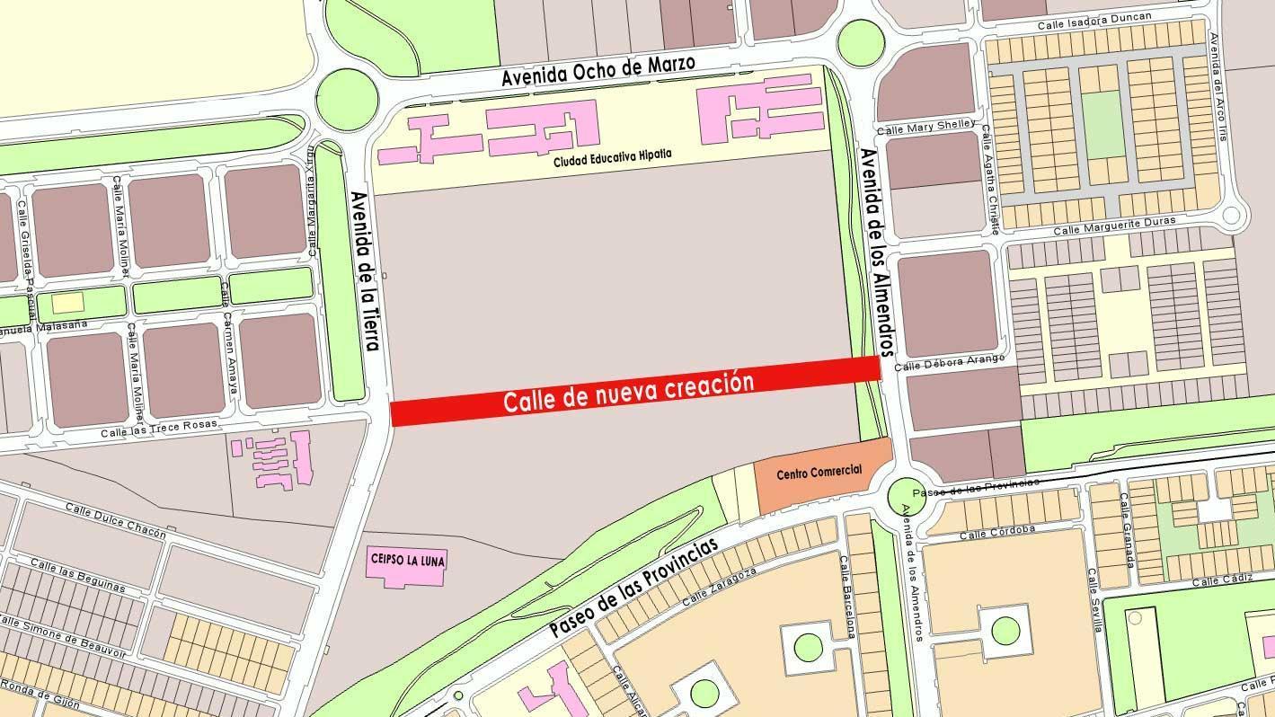 Elige el nombre de la nueva calle entre la Avda. de la Tierra y la Avda. de los Almendros