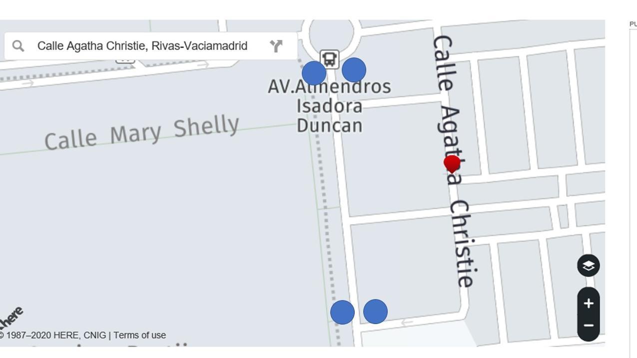 Semáforos en la Avenida de los Almendros Rotonda avenida 8 de marzo